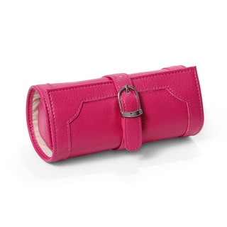 Morelle Olivia Fuschia Belted Jewelry Roll