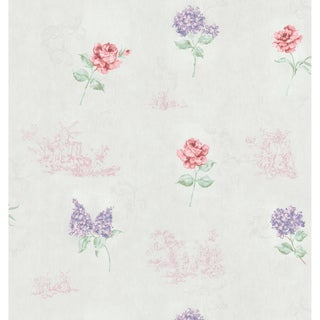 Brewster Off-White Vintage Toile Wallpaper