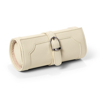 Morelle Olivia Cream Belted Jewelry Roll