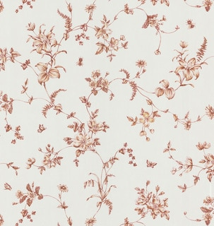 Brewster Burgundy Floral Vine Wallpaper