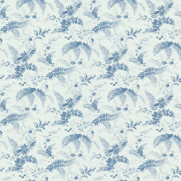Brewster Blue Floral Toile Wallpaper. Opens flyout.