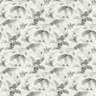 Brewster Charcoal Leave Toile Wallpaper
