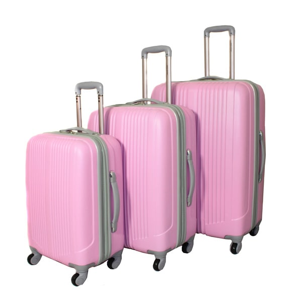 World Traveler Argo 3-piece Expandable Hardside Spinner Luggage Set