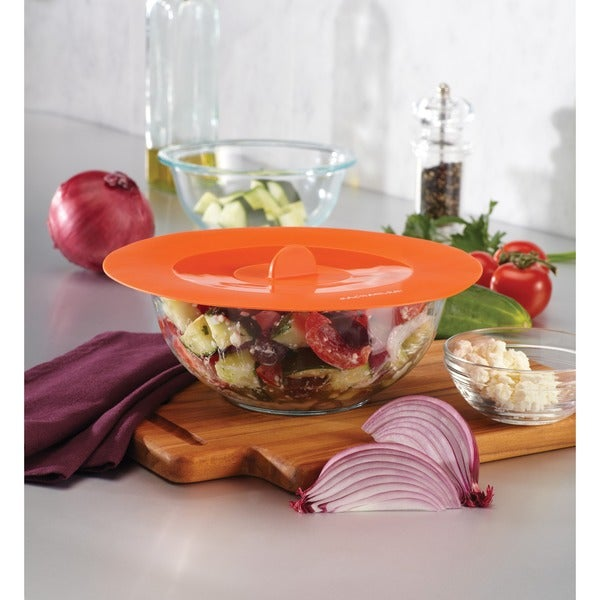 Rachael Ray Tools and Gadgets Orange Suction Lids (Set of 2)