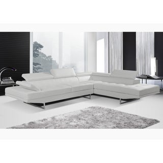 Incredible Nova White Sofa Sectional Overstock Com Shopping The Best Deals On Sectional Sofas Ncnpc Chair Design For Home Ncnpcorg