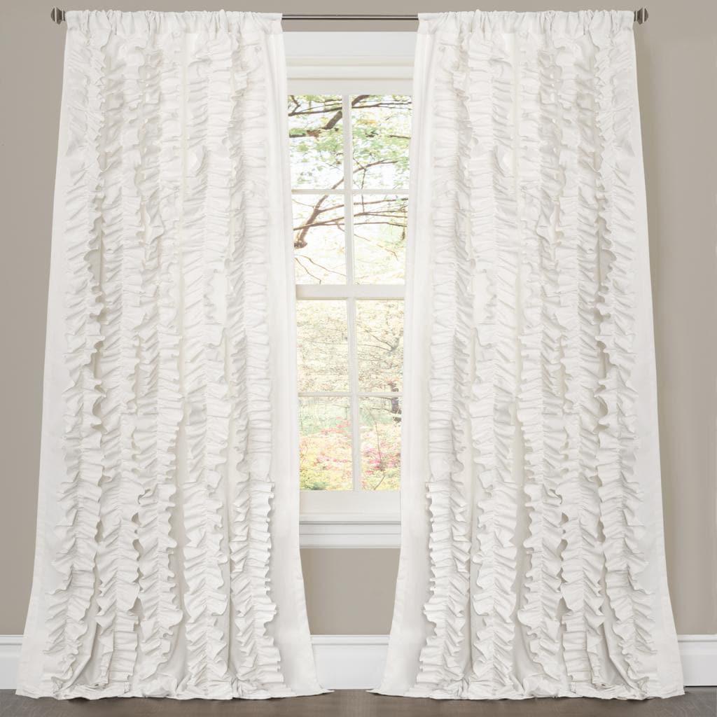 Lush Decor Belle White 84 Inch Curtain Panel