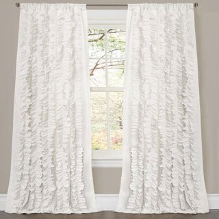 Lush Decor Belle White 84-inch Curtain Panel