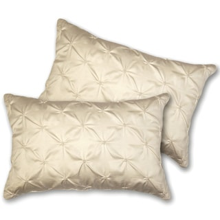 Shop Lush Decor Lucia Oblong Ivory Decorative Pillows Set