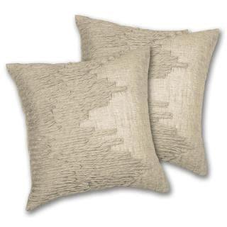 Lush Decor Lake Como Square Taupe Decorative Pillows (Set of 2)