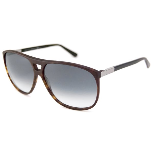 46f07eaf80 Shop Gucci Unisex GG1640 Rectangular Black-Havana Sunglasses - Free  Shipping Today - Overstock - 8117710