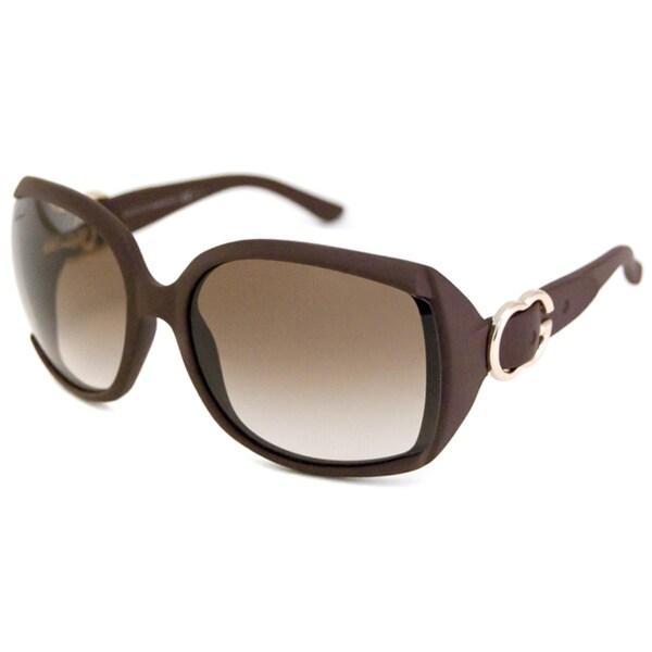 Gucci Women's GG3511 Bordeaux/Burgundy Rectangular Sunglasses