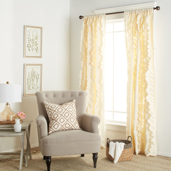 Lush Decor Belle 84-inch Curtain Panel - 54 x 84 - Free Shipping ...