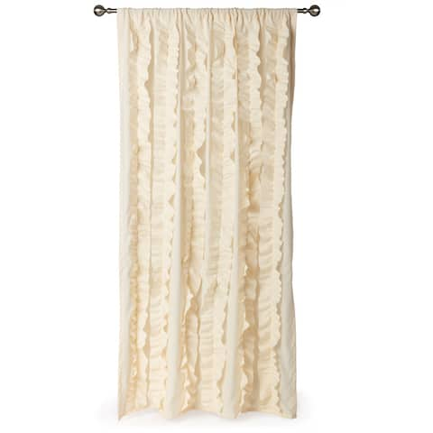 Gracewood Hollow Quist Ruffled Curtain Panel - 54 x 84 - 54 x 84
