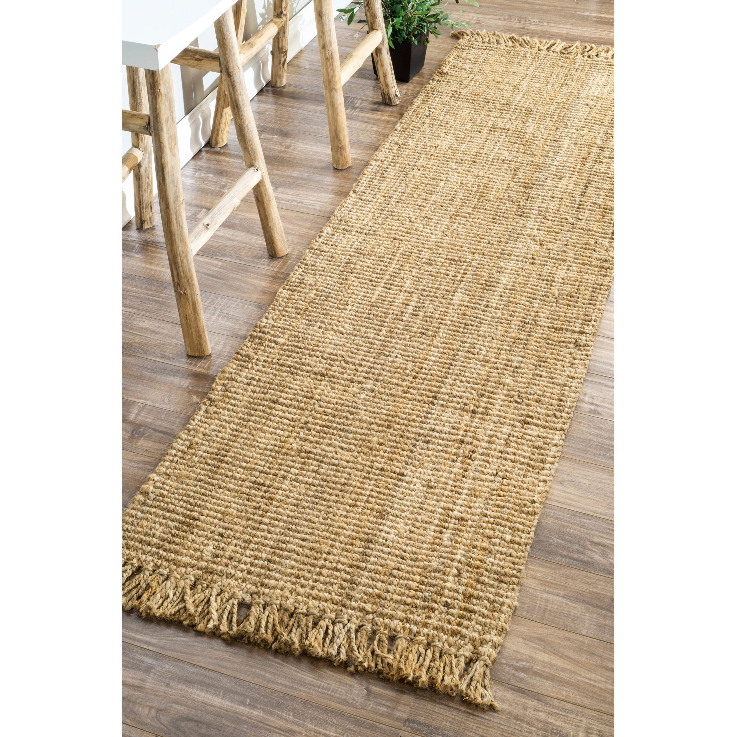 Shop Nuloom Handmade Eco Natural Fiber Chunky Loop Jute