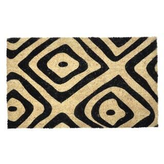 Kosas Home Pyra Tribal 18 x 30-inch Coir Doormat