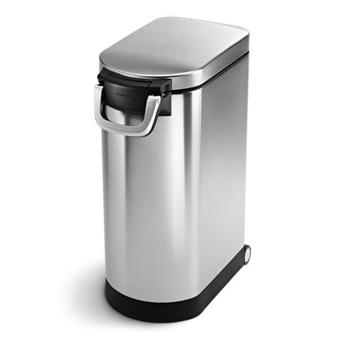 simplehuman X-Large Pet Food Storage Can - Stainless Steel