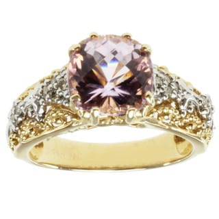 Michael Valitutti 14k Two-tone-gold Pink Kunzite and Diamond Ring
