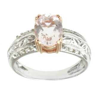 Michael Valitutti 14K Two-tone Gold Clear Morganite and Diamond Ring