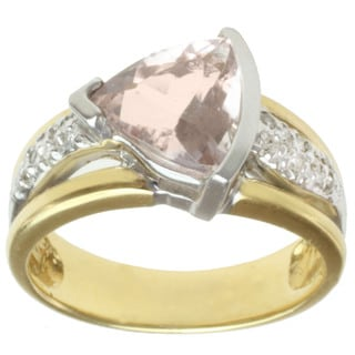 Michael Valitutti 18k Two-tone Gold Morganite and Diamond Ring