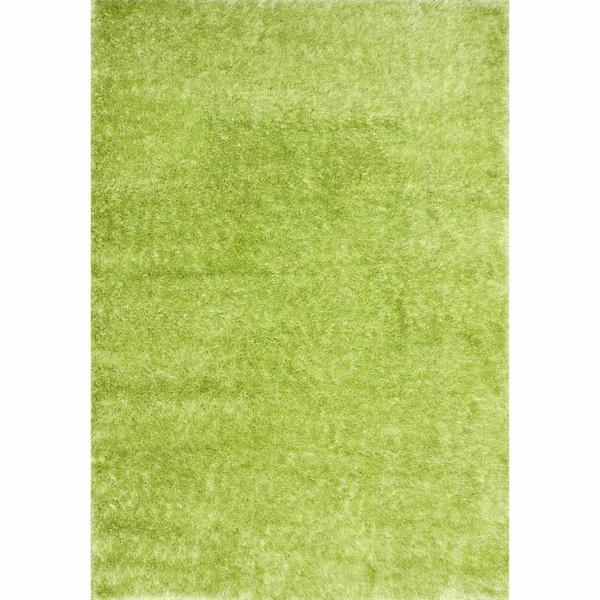 Shop NuLOOM Sparkle Plush Lime Green Shag Rug