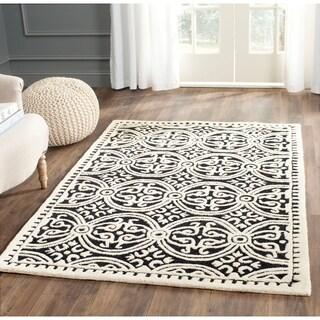 Safavieh Handmade Cambridge Moroccan Black/ Ivory Rug (4' x 6') - 4' x 6'