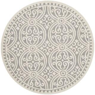 Safavieh Handmade Cambridge Moroccan Silver/ Ivory Rug (4' Round)