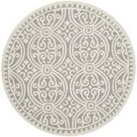 Safavieh Handmade Cambridge Moroccan Silver/ Ivory Rug - 8' Round