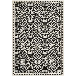 Safavieh Handmade Cambridge Moroccan Black/ Ivory Rug (3' x 5')