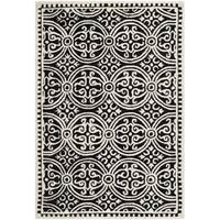 Safavieh Handmade Cambridge Moroccan Black/ Ivory Rug (3' x 5') - 3' x 5'