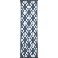 "Safavieh Handmade Cambridge Moroccan Navy Wool Runner Rug (2'6"" x 12') - 2'6"" x 12'"