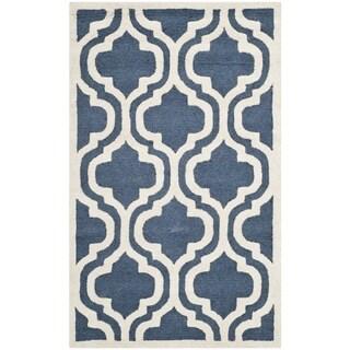 Safavieh Handmade Cambridge Moroccan Navy Area Wool Rug (2' 6 x 4')