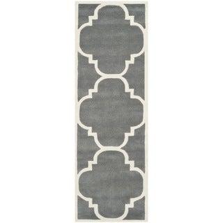 Safavieh Handmade Contemporary Moroccan Dark Grey Wool Rug (2'3 x 11')