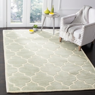 Safavieh Handmade Moroccan Chatham Grey Wool Rug with .5-inch Pile (4' x 6')