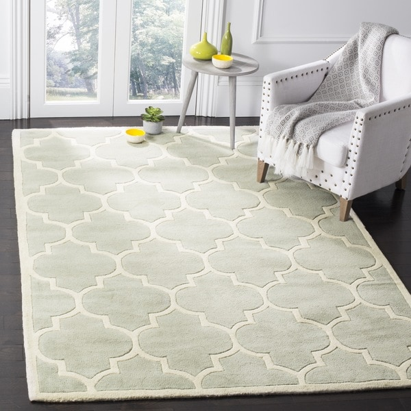 Safavieh Handmade Moroccan Chatham Grey Wool Lattice-Patterned Rug - 8' x 10'