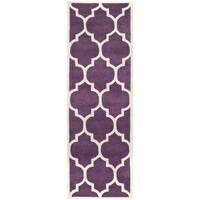 Safavieh Handmade Moroccan Chatham Purple Wool Rug - 2'3 x 11'