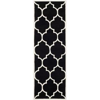 "Safavieh Handmade Moroccan Geometric Black Wool Rug (2'3"" x 9')"