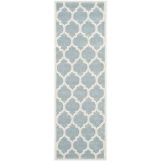 Safavieh Handmade Moroccan Blue Geometric Indoor Wool Rug (2'3 x 7')