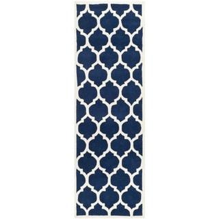 Safavieh Handmade Moroccan Chatham Dark Blue Wool Rug (2'3 x 11')