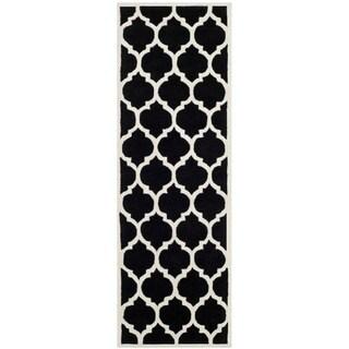 "Safavieh Handmade Contemporary Moroccan Black Wool Rug (2'3"" x 11')"