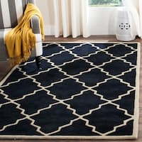 Safavieh Handmade Hand-Tufted Moroccan Dark Blue Wool Rug - 5' x 8'