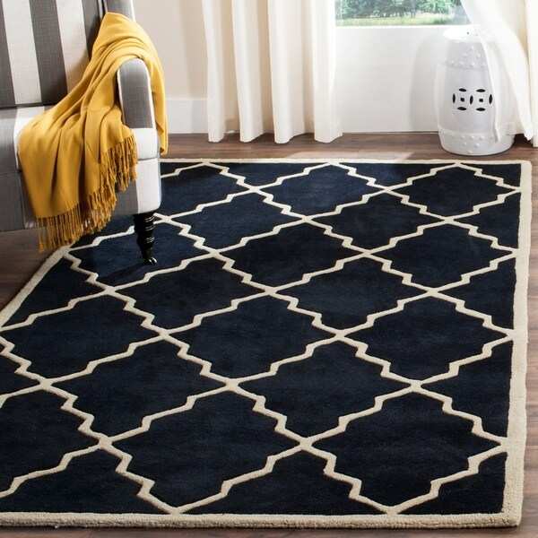 Safavieh Handmade Moroccan Dark Blue Dense Wool Rug - 8' x 10'