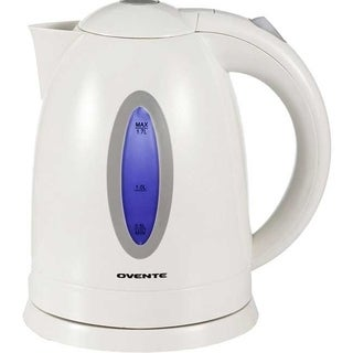 Ovente 1.7-liter White Cordless Electric Kettle