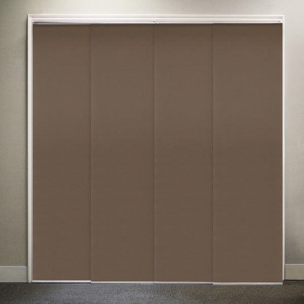 "Chicology Adjustable Sliding Panel, Fabric - Thermal, Room Darkening, 80""W X 96""H - Mountain Chocolate"