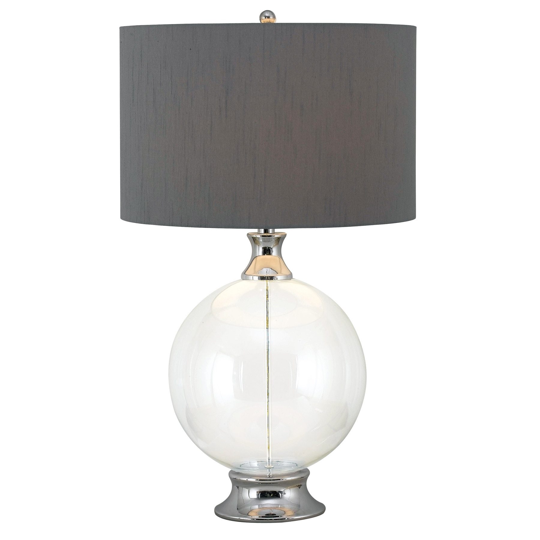 Design Craft Sheridan Table Lamp (Glass Finish with Chrom...