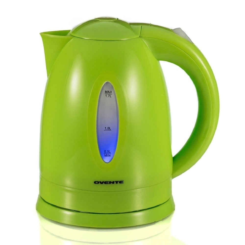 Ovente Green 1.7-liter Cord-Free Electric Kettle (Green) ...