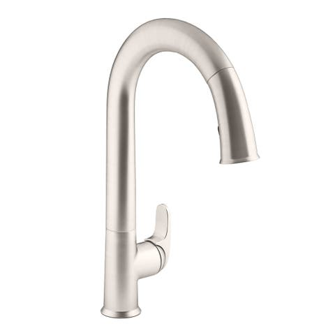 Kohler Sensate Pullout Spray Electronic Single Hole Kitchen Faucet K-72218-VS Vibrant Stainless