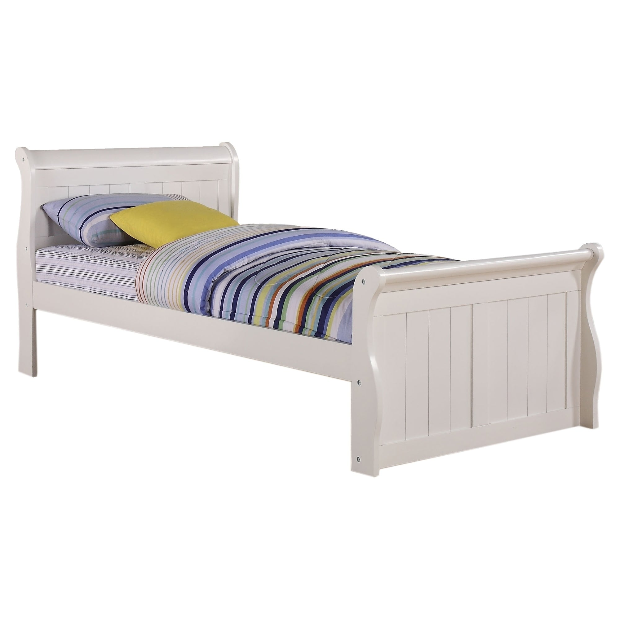 Donco Kids White Sleigh Bed (Twin)