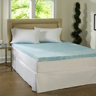 Comforpedic Loft from Beautyrest 4-inch Flat Gel Memory Foam Mattress Topper