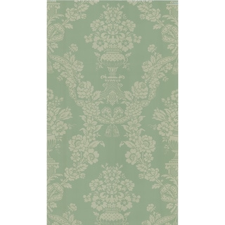 Green Floral Damask Wallpaper