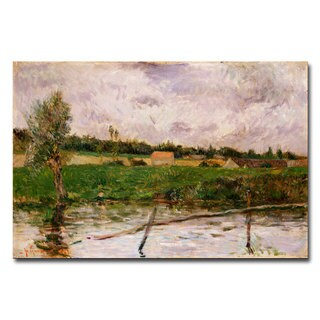 Paul Gauguin 'Brittany Countryside' Canvas Art